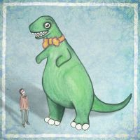 A Man and his Dinosaur by CheshireSpider