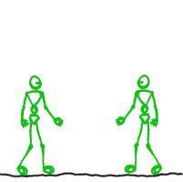 stickman fight animated GIF by txy45