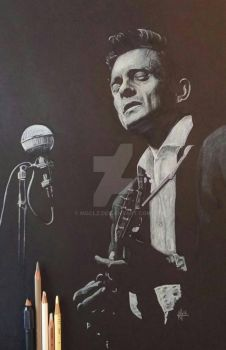 Johnny Cash render by mgclz