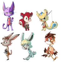 animal crossing villagers by Peegeray