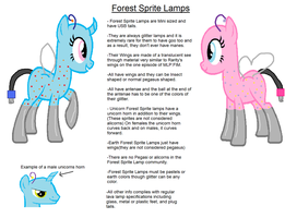 Species Ref-Forest Sprite Lamps by Strawberry-T-Pony