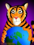 Tiger With earth by rwmtiger