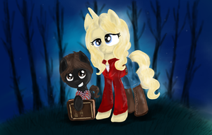 Once Upon a Time Pony MLP Henry and Emma by GingerAdy