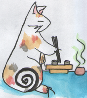Sushi Cat by CatTheTerrible