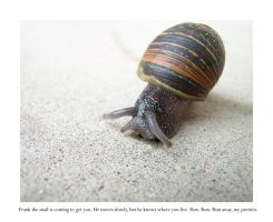 Frank the Snail's Gonna Getcha by wordlesswhisper