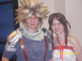 Crisis Core Cloud and Aeris by confuzed-anime-fan