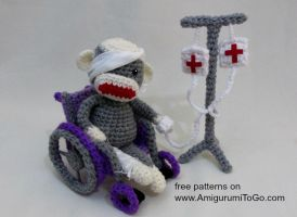 Sick Sock Monkey by sojala