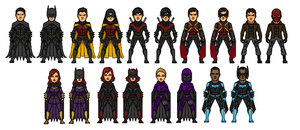 New 52 Bat Family in The Nolanverse by KezHero