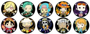 ONE PIECE Christmas baubles by CRINS
