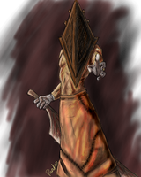 Oekaki Pyramid Head by Nabonidus
