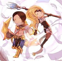 Varus and Janna by Yosukii