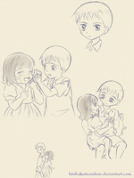 [Fantastic Children] Sketch - Sibling by Hini-Parlous