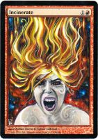 Magic Card Alteration: Incinerate 4/21/14 by Ondal-the-Fool
