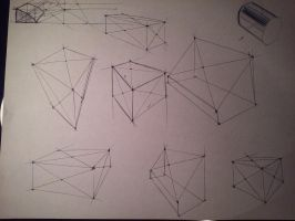 free hand cubes and form sketching  by KevinAvila12