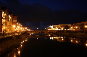 night time on the necanicum river in seaside by ringmale