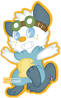Chip the Oshawott by Libearty