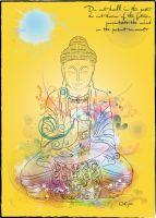 Powe Buddha Illustrator by boykulas