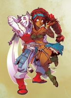 +WAKFU+ Aranael and Darvania by Nephyla