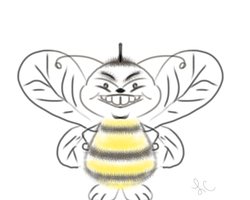 Simple Bee Drawing by thepurpleorchid1