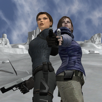 Lara Croft and Jill Vanlentine by candycanecroft