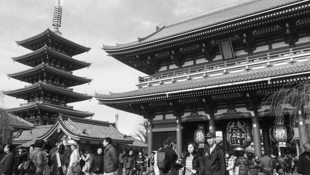 Different Angle of the Sensoji Temple by nmaeda