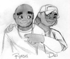 Russel and Del by the-bad-cat