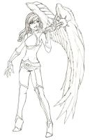 Free Comission : Hawkgirl by cocodesbois