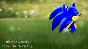 18th Anniversary Sonic by ihearrrtme