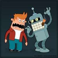 fry and bender by jasonshawnhickman