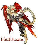 Hell Charm Badge by Pepper-Head