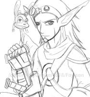Jak 2 - Jak and Daxter sketch by Fay-san
