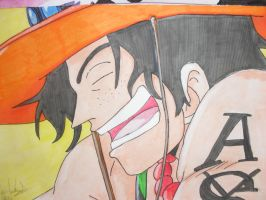 Ace Laughing by KezXxX
