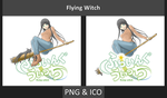 Flying Witch - Anime Icon by Rizmannf