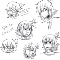 Stella Collins sketchdump by Frammur