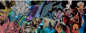 Blackest Night JSA 01 pages 08-09 Flats by Flashflat26