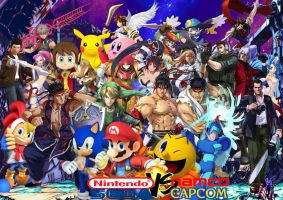 Nintendo X Sega VS Namco X Capcom by SuperSaiyanCrash
