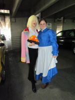 Wizard Howl, Calcifer + Sophie arrive at Acen 2012 by joshietakashima
