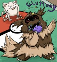 Zigzagoon - Gluttony by Sharulia