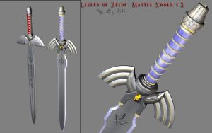 Zelda: Master Sword v2 by lady-die