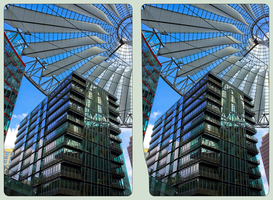 Sony Center II :: Berlin :: HDR Cross-View 3D by zour