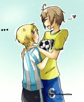 BrasilxArgentina: Let's play by Fuko-chan