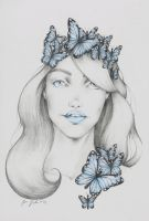 Blue Butterfly by Godisinvincible