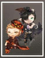 [Chibi Request] Vampire Brothers by Nomellie