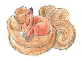 fluffy vulpix by pitch-black-crow