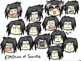 The Many EMOtions of Sasuke by BloodlustBakura