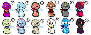 Scarfblob Adopts 3 ~Open~ by IIbukiMioda