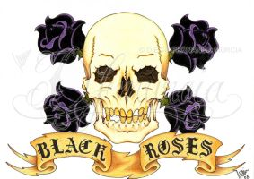 Black roses -coloured- by dfmurcia