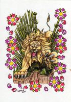 tattoo flash art lion by killORkiss
