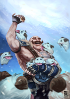 League of Legends: Braum by Ariss18