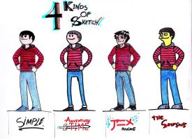 4 kinds of sketch by TheWallProducciones